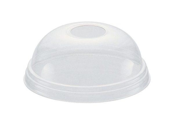 Lokk til plastbeger høyt u/hull (1000)