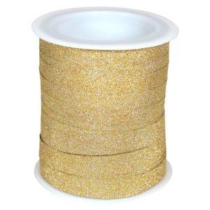 Gavebånd 100m x10mm glitter gull