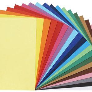 Farget papir 120g 20 farger (1000)