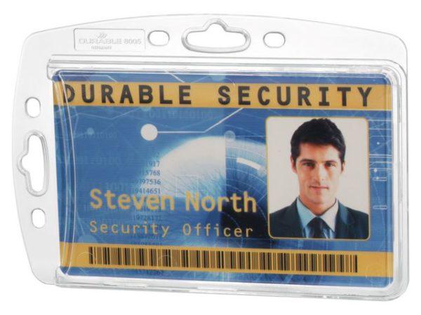 Kortholder DURABLE hardplast klar (10)
