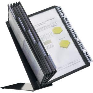 Bordstativ VARIO® A4 10 lommer sort