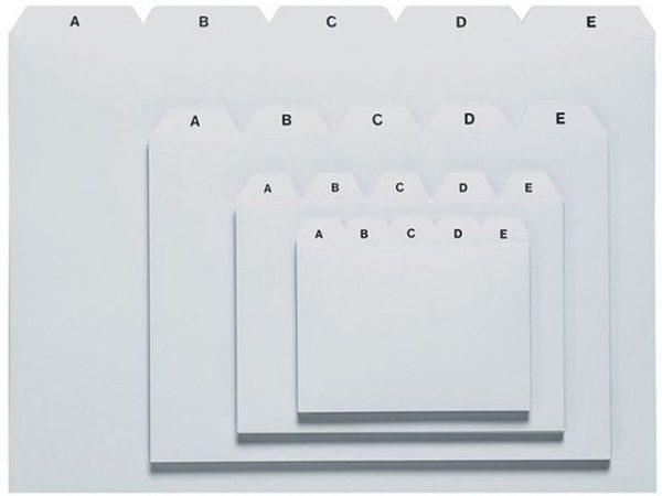 Kartotekregister A6 plast grå