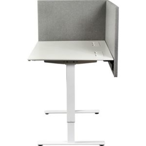 Bordskjerm KENSON absorbent 80x70cm grå