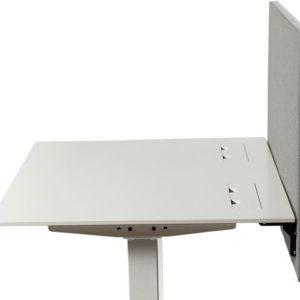 Bordskjerm KENSON absorbent 160x70cm gr