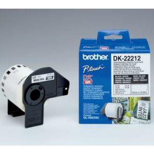 Etikett BROTHER DK-22212 pl 62mmx15