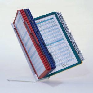 Bordstativ VARIO® A4 med 20 lommer met