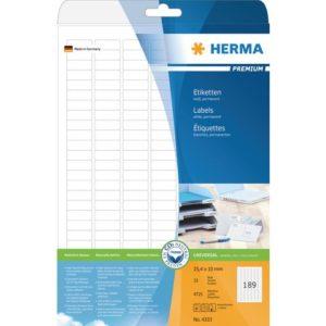 Etikett HERMA premium A4 25