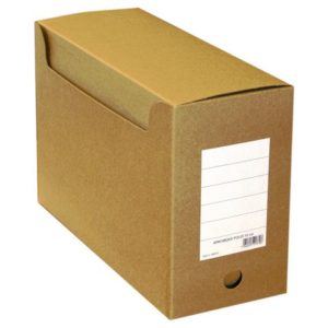 Arkivboks A4 15cm massiv papp m/hull