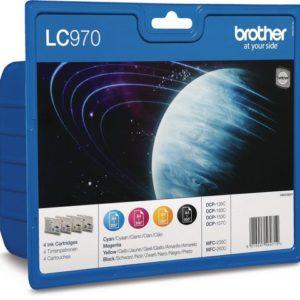 Blekk BROTHER LC970 sort/blå/rød/gul (4