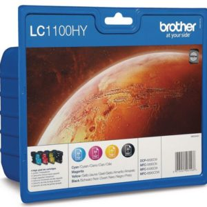 Blekk BROTHER LC1100HY A3 sort + CMY (4