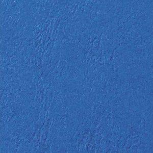 Omslag ringinnb GBC lærstrukt blå (100)