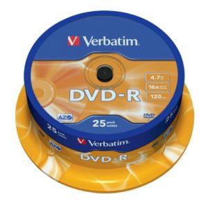 DVD-R VERBATIM 4.7GB 16X spindle (25)