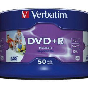 DVD+R VERBATIM 4.7GB 16X Print Spin (50