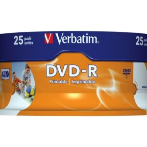 DVD-R VERBATIM 4.7GB 16X print spin (25