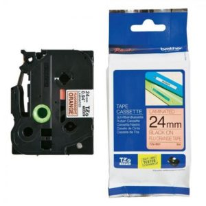 Tape BROTHER TZe-B51 24mmx5m sort/orang