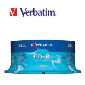 CD-R VERBATIM 700MB 52X spindle (25)