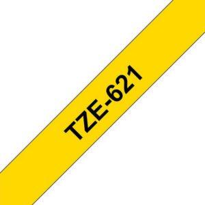 Tape BROTHER TZe-621 9mmx8m sort/gul