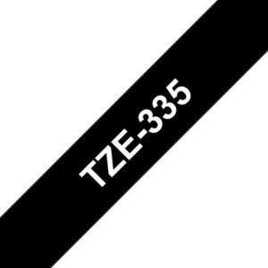 Tape BROTHER TZe-335 12mmx8m hvit/sort