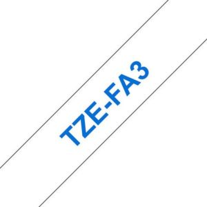 Tape BROTHER TZe-FA3 12mmx3m blå/hvit