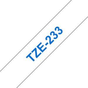 Tape BROTHER TZe-233 12mmx8m blå/hvit