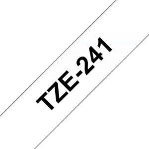 Tape BROTHER TZ-e241 18mmx8m sort/hvit