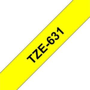 Tape BROTHER TZe-631 12mmx8m sort/gul