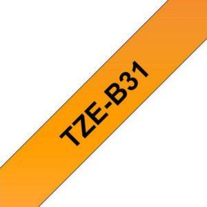 Tape BROTHER TZe-B31 12mmx8m sort/orang