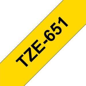 Tape BROTHER TZe-651 24mmx8m sort/gul