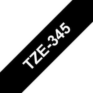 Tape BROTHER TZe-345 18mmx8m hvit/sort
