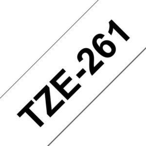 Tape BROTHER TZe-261 36mmx8m sort/hvit