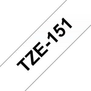 Tape BROTHER TZe-151 24mmx8m sort/klar