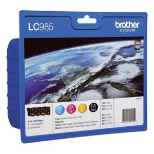 Blekk BROTHER LC985 sort/blå/rød/gul (4