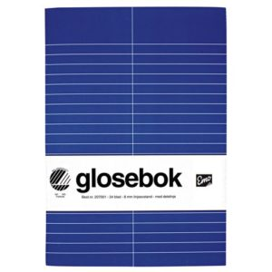 Glosebok EMO A5 24bl 8mm delelinje