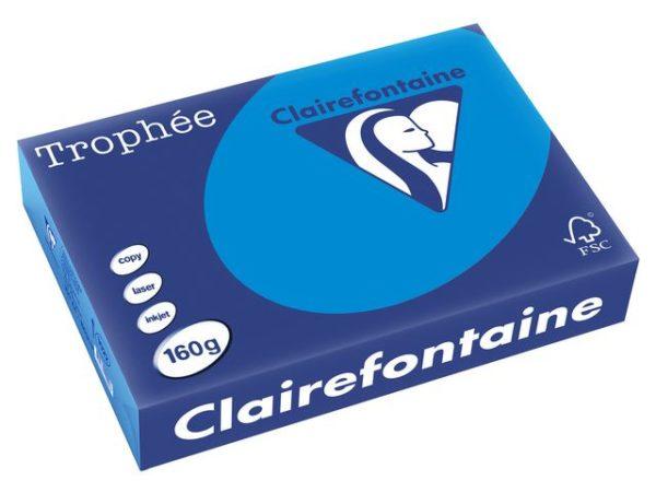 Kopipapir TROPHEE A4 160g klarblå (250)