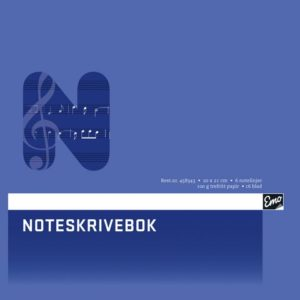 Noteskrivebok EMO 20x21cm 16blad6 linje