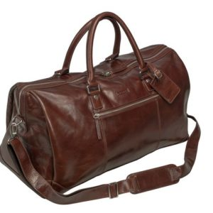 Weekendbag PIERRE Buffalo-skinn brun