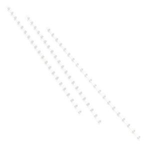 Plastspiral GBC 19mm 21 ringer hvit(100