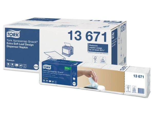 Dispenserserviett TORK N10 2L hvit (500