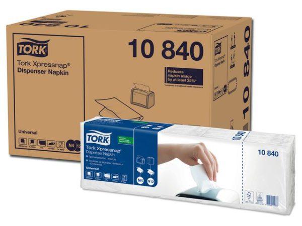Dispenserserviett TORK N4 1L hvit (1125