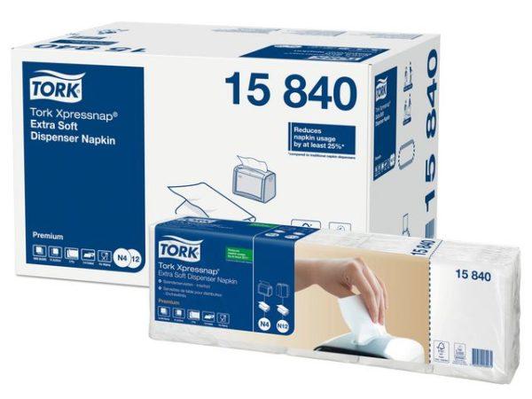 Dispenserserviett TORK N4 2L hvit (500)