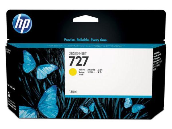 Blekk HP 727 B3P21A gul