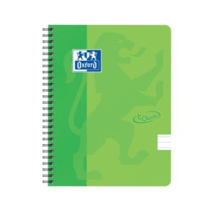 Notatbok OXFORD Touch A5+ 90g lin grønn