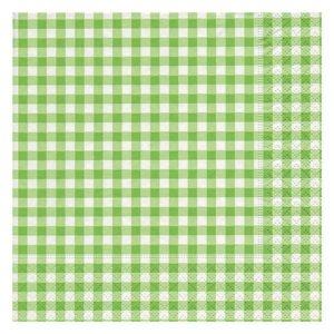 Serviett 3L 33cm Smårutet grønn (20)
