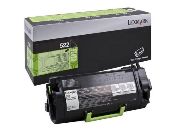 Toner LEXMARK 52D2000 6K sort