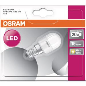 Lyspære OSRAM T26 20 E14 2