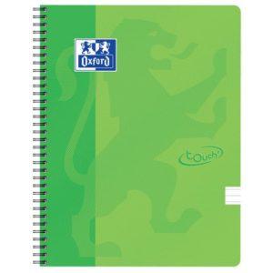 Notatbok OXFORD Touch A4+ 90g lin grønn