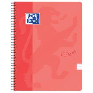 Notatbok OXFORD Touch A4+ 90g lin orang