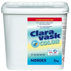 Tøyvask CLARA u/blekemiddel 5kg