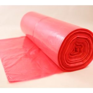 Avfallspose LD-PE 60x90cm 18my rød (125