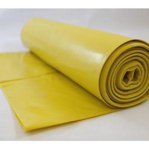 Avfallssekk LD-PE 77x130cm 150my gul(10
